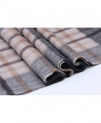 Saferin Women Cashmere Plaid F005 Grey in Fashion Scarves