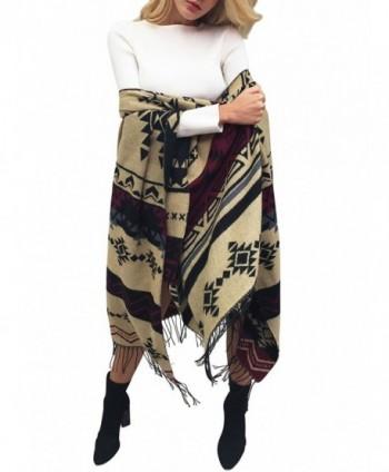 Glamaker Women's Soft Cashmere Pashmina Long Scarf Shawl Wrap - Geometric - CW184TW8SMK