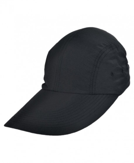 Torrey Hats UPF 50+ Long Bill Baseball Cap - Black - CS11LRTOH81