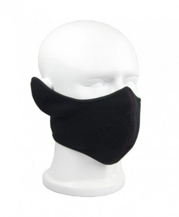 Reversible Fleece Ear Nose Warmer Half Face Mask Facemask Facial Mask - Black - CV11QSUHLL9