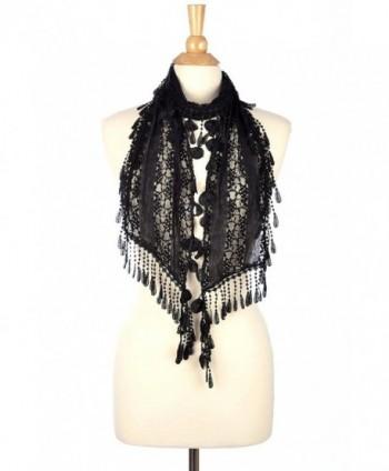 Fashion Romantic Scarf Tassels Black