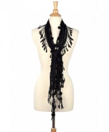 Fashion Romantic Scarf Tassels Black in Fashion Scarves
