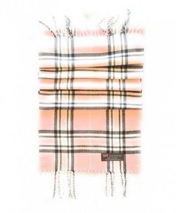 100% CASHMERE SCARF - MADE IN SCOTLAND! - Pink & Black Plaid - CF12NTVTMVK