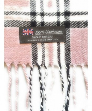 100 CASHMERE SCARF BLACK SCOTLAND in Fashion Scarves