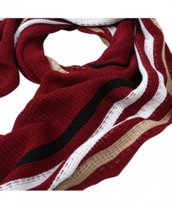 Classic Premium Unisex Striped Winter in Cold Weather Scarves & Wraps