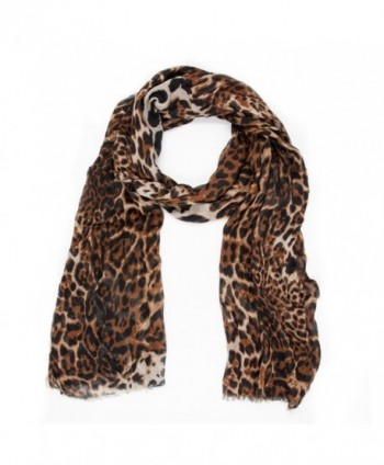 Fashion Leopard Animal Print Shawl Scarf Wrap Womens Gift For White Valentine's Day - CM1804RCUSC