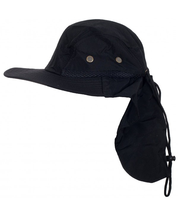 DRY77 Desert Sun Fisherman Hunter Bucket Hat - Black - CZ11WPONZUD