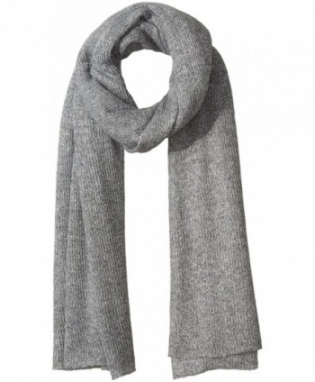 Collection XIIX Women's Oversized Shine Knitted Runway Wrap - Angora Grey - C612ICR8BN7