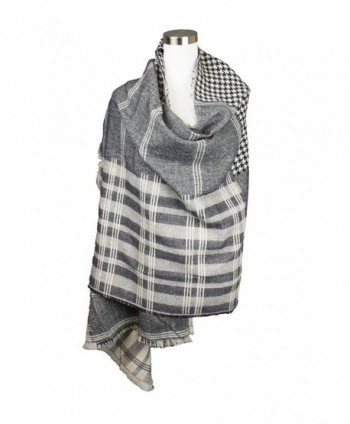 Womens Hounds tooth Checkered Design Oblong in Cold Weather Scarves & Wraps