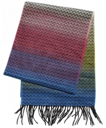 D&Y Women's Softer Than Cashmere Ombre Scarf - Blue - CA11GIVD89H