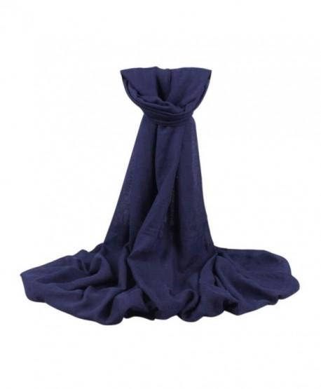 Inkach Women Long Wrap Shawl Scarf Scarves Stole - Navy - C412N3XZPNS