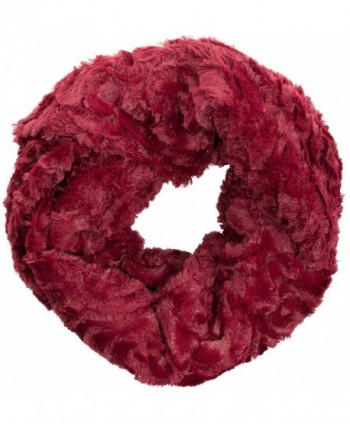 Sakkas Abhy Soft Fall Winter Furry Infinity Wrap Scarf - 5-cranberry - CI1258SG801