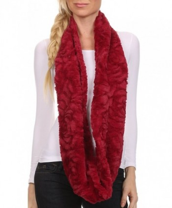 Sakkas CXGJ1531 Winter Infinity 5 Cranberry in Cold Weather Scarves & Wraps
