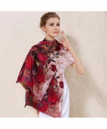 Womens Charmeuse Mulberry Ladies Butterfly in Cold Weather Scarves & Wraps