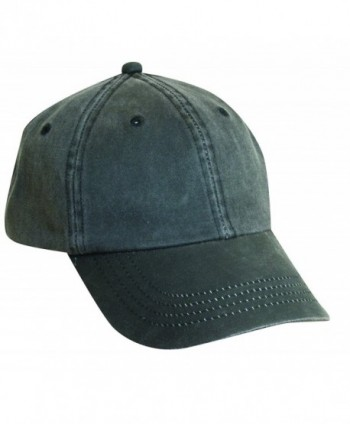 Dorfman Pacific Co. Men's Forever Weathered Cotton Cap - Black - CD114D1FLAH