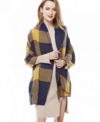 Unisex Winter Autumn Fashion BlueYellow in Fashion Scarves