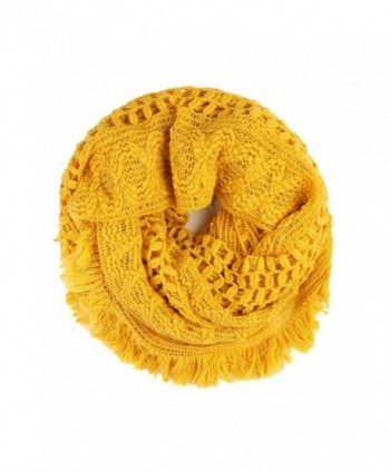 MYS Collection Soft Winter Infinity Scarf (Mustard) - CM186NRQH0R
