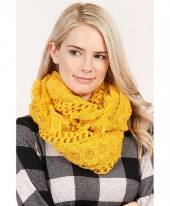 MYS Collection Winter Infinity Mustard in Fashion Scarves