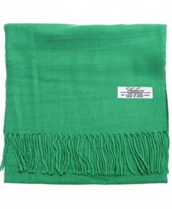 "Falari Men Women Unisex Cashmere Feel Scarf 78"" x 12"" Solid Color - Irish Green - C8127W58N0B"