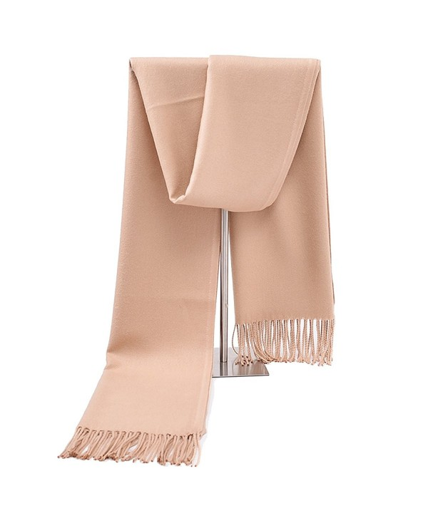Women silk soft cashmere scarf- large oversized pashmina shawl wrap scarves with multicolor Memorygou - Camel - CI186SYC8T6