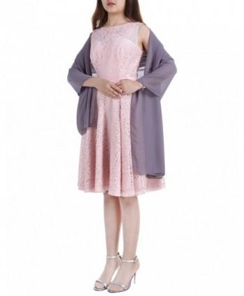 ALAGIRLS Womens Soft Chiffon Shawl Bridal Wrap Sheer Scarf for Wedding Party Prom - Gray - C1184DSOLL6