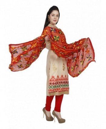 Dupatta Bazaar Phulkari Embroidery Chiffon in Cold Weather Scarves & Wraps