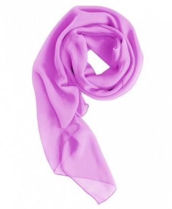 Dresstells Women's Bridal Chiffon Shawl Long Evening Scarves Wraps - Lilac - CX124L5IOR7