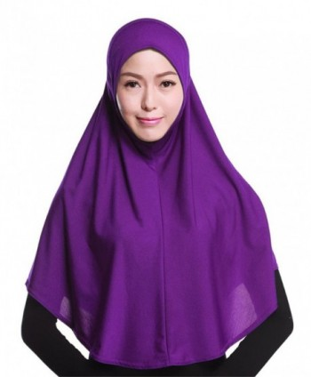 GladThink Womens Muslim Hijab Scarf With More colors - Purple - C112IUHPJ0R