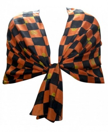 Women India Clothing Evening Long Silk Scarf Wrap - Multicolor5 - CO11T8URXGT