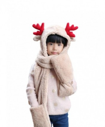Wicky LS Christmas Accessories- Including Hat and Scarf and Gloves - Childs Style-beige - CZ186NDLYOG