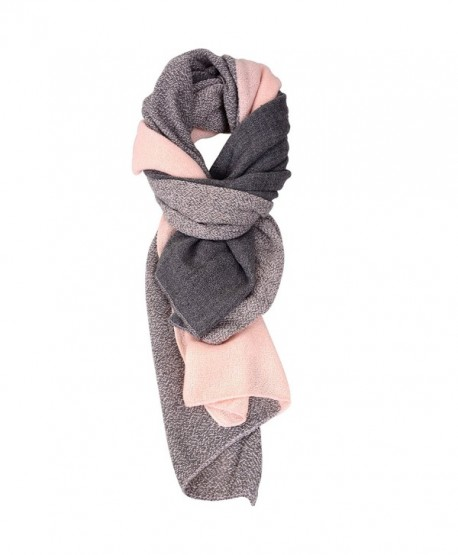 Winter Cashmere Scarves for Women Men Shawl Scarfs and Wraps - Pitting Pink - C812N9HJ98Q