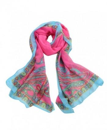 METFIT Fashion Women Long Soft Wrap Ladies Shawl Scarf Scarves 2017 NEW - Hot Pink - CC17YO78ZS2