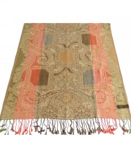 Aksai Design Pashminas Shawl Pashmina Scarf Wrap Stole Shawls Scarves Wraps NEW - Olive Green - CZ11YPMR29D