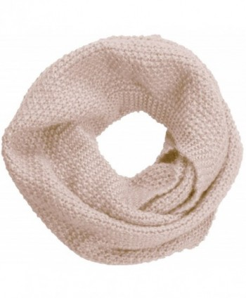 NEOSAN Women Warm Chunky Ribbed Knit Winter Infinity Loop Scarf - Cross Khaki - C4184T5QLR8