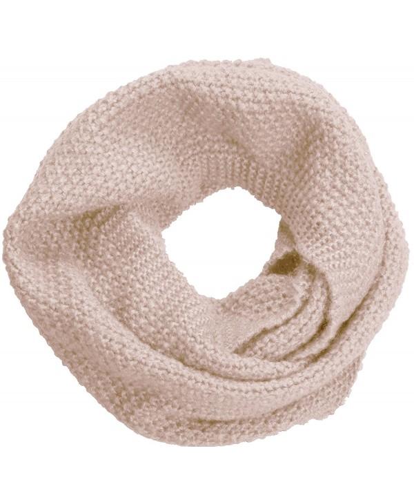 NEOSAN Women Warm Chunky Ribbed Knit Winter Infinity Loop Scarf - Cross Khaki - C4184T5QLR8