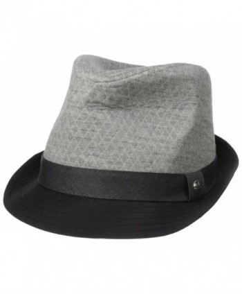 Perry Ellis Men's Textured Colorblocked Fedora - Castle Rock - CN11UG4YDJL