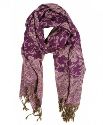 LibbySue Reversible Tapestry Paisley Pashmina Colors
