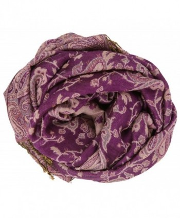 LibbySue Reversible Tapestry Paisley Pashmina Colors in Fashion Scarves