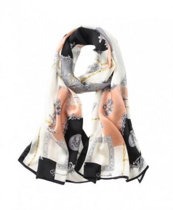 blackmogoo Women's Long Silk Satin Scarf Luxury Designer Scarf Fashion Shawl Wraps - 7 - CL185Z5EN7G