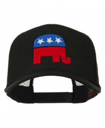 Republican Elephant Embroidered Mesh Back