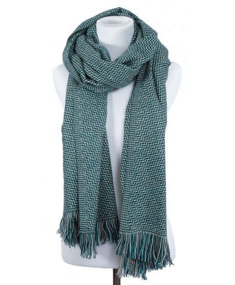 "Portola Thick Cold Weather Scarf 78"" x 28"" - Teal - CF12NG8WFGH"
