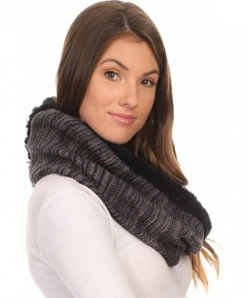 Sakkas 16107 Textured Designed Infinity in Cold Weather Scarves & Wraps