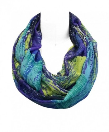 Wrapables Lightweight Voile Infinity Purple in Fashion Scarves