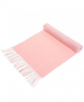 100% Cashmere Wool Scarf Solid Colors Made in Germany - Pink - CG12EDVIZ55