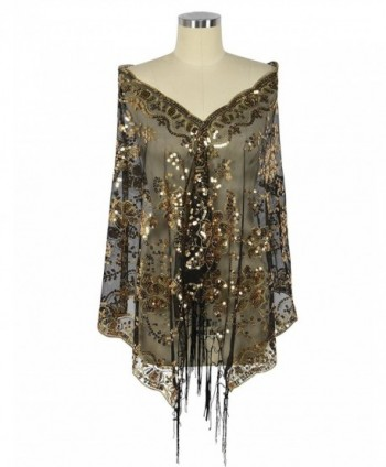 PrettyGuide Womens Fringed Wedding Evening in Wraps & Pashminas