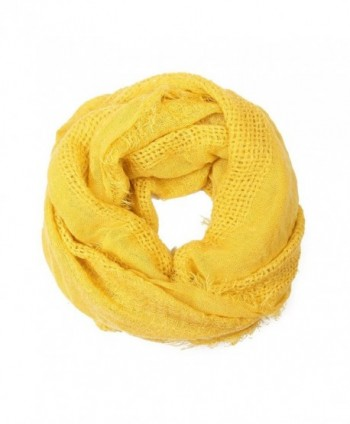 MYS Collection Soft Fall Infinity Circle Loop Scarf - Mustard - CX12MF2PXJF