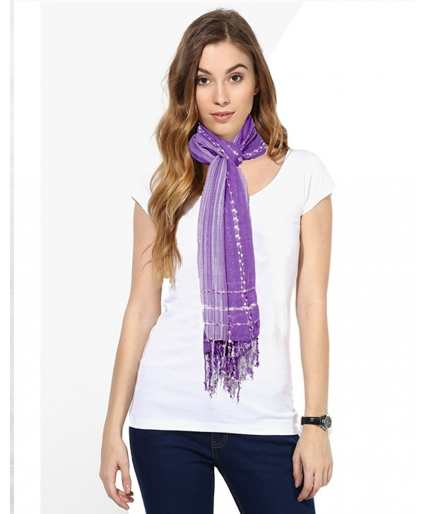 Indistar Women's Soft Luxurious Viscose Stole For All Seasons - Multi-Colored - CI12EP1JY35