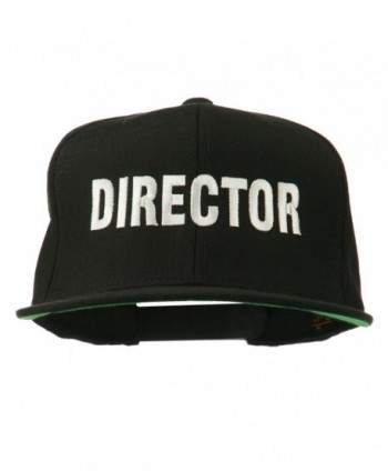 E4hats Director Embroidered Flat Bill