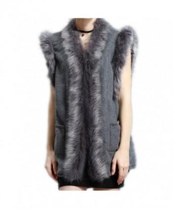 Wool Vest Jacket Women HOMEYEAH - Gray - CN186RZ4TWR