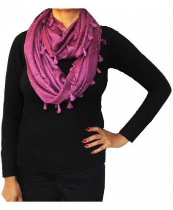 Loop Infinity Scarf Self Neck One Circle Wrap Womens Fashion Clothing Gift - Purple 1 - C311W5615C1